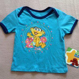 Sesame Street Infants T-shirt Baby Zoe, Sz 18M